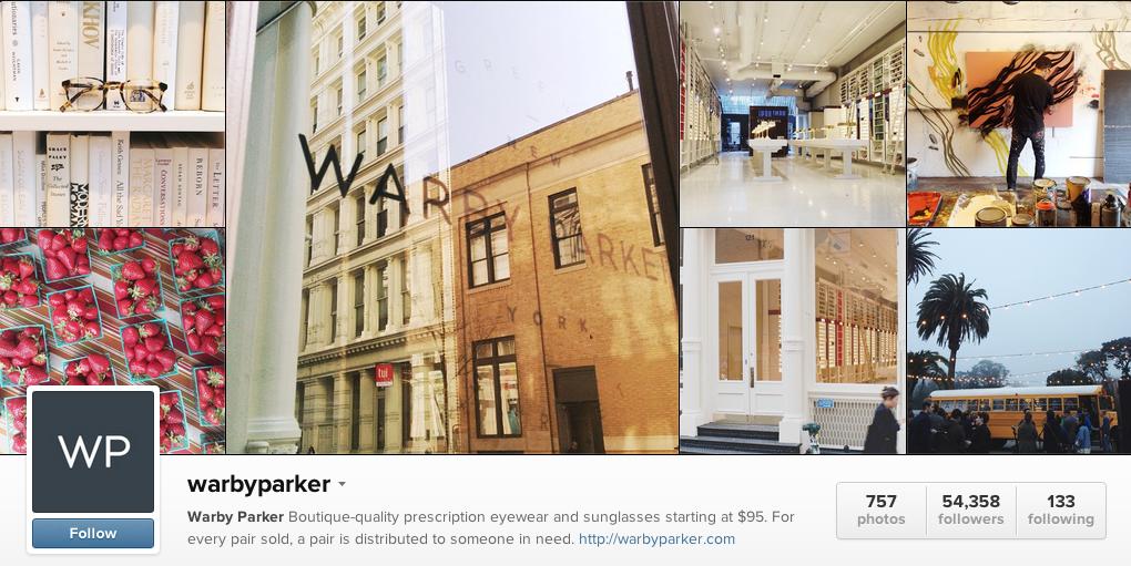 Warby Parker Instagram