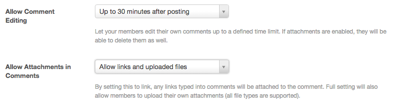 SE comment editing two new features